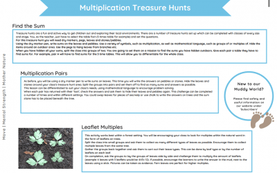 Outdoor Multiplication KS2 (Ideas Pack)