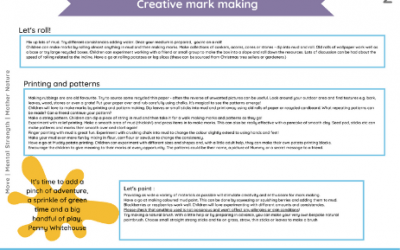 Mark Making Outdoors (Ideas pack)