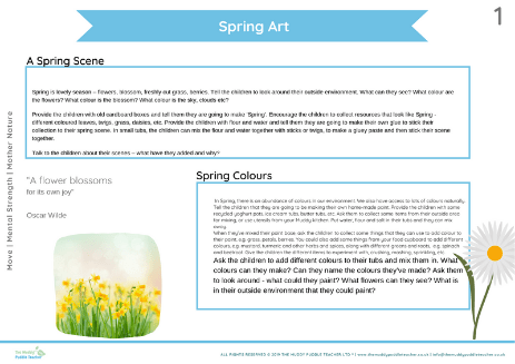 spring art early years