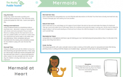 Early Years outdoors mermaids ideas pack