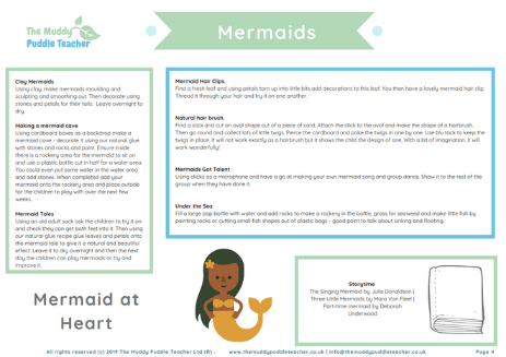 early years outdoors mermaids