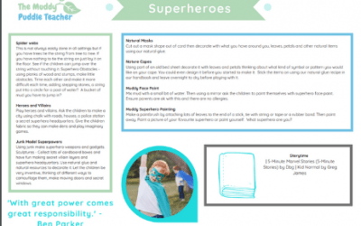 Early Years Outdoors Superheroes