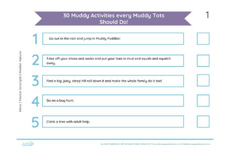 30 muddy activities