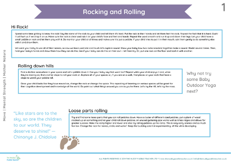 Early Years developing rolling skills