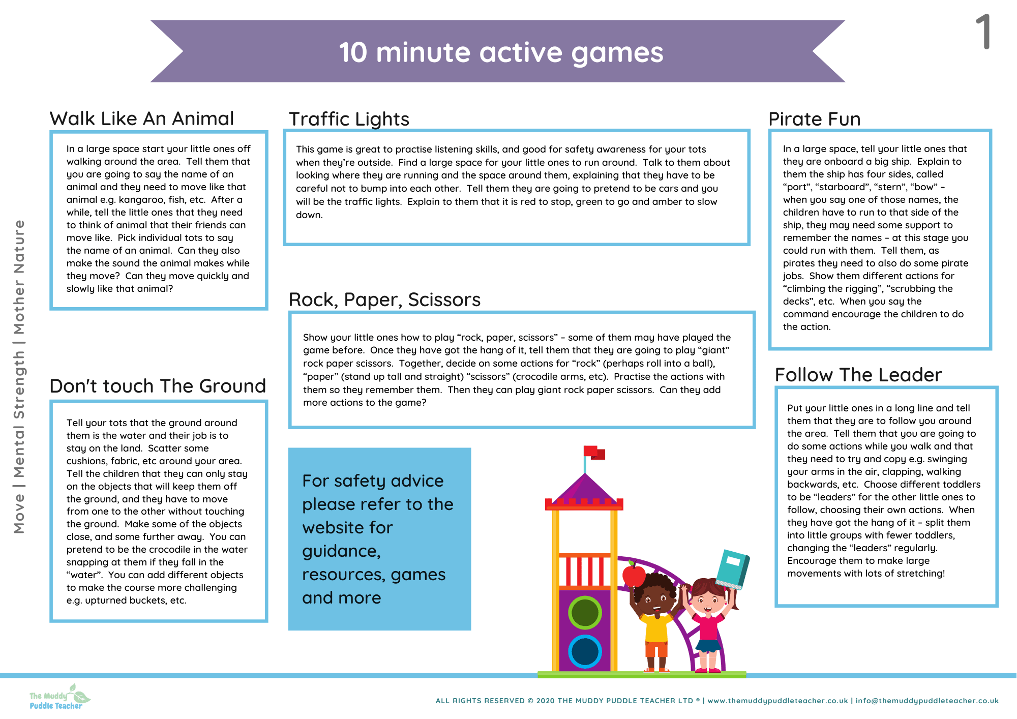 early years active games