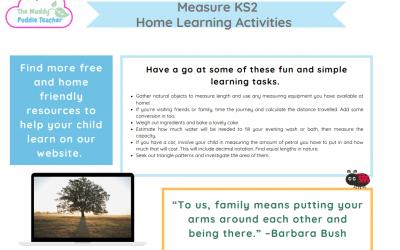 Measurement Home Learning KS2