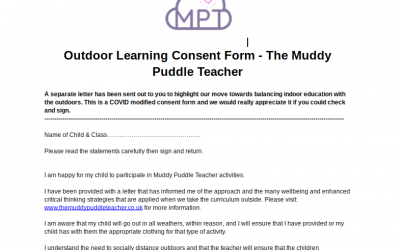 Outdoor Learning Parent Consent Form