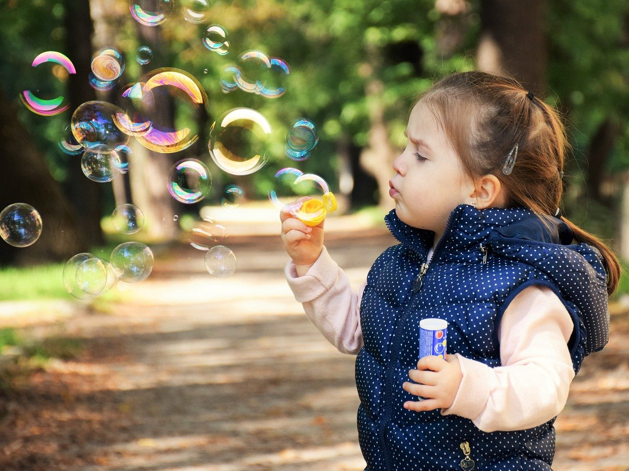 kid with bubbles