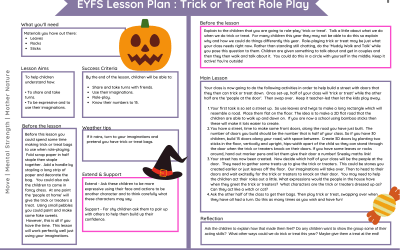 Halloween Trick or Treat Lesson Plan