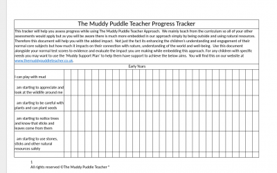 Outdoor Learning Progress Tracker – all ages