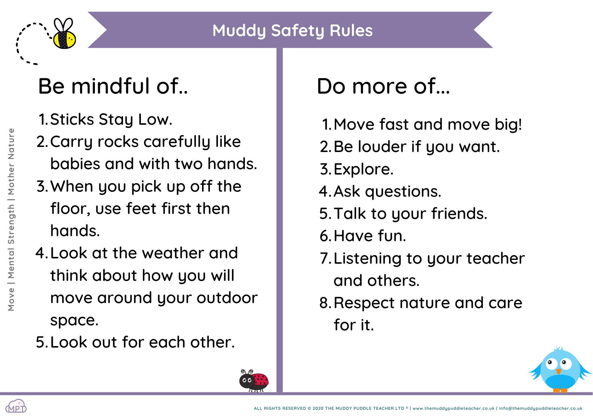 muddy safety rules