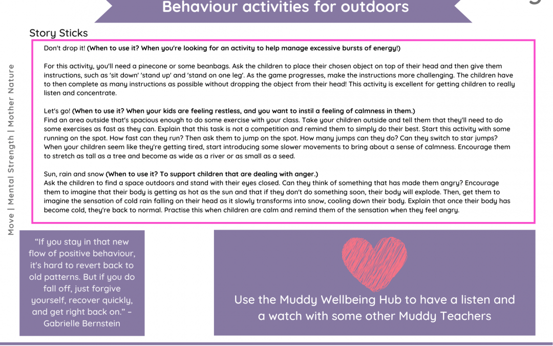 Positive teaching to support behaviour