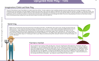 Upcycled Role Play – Tots