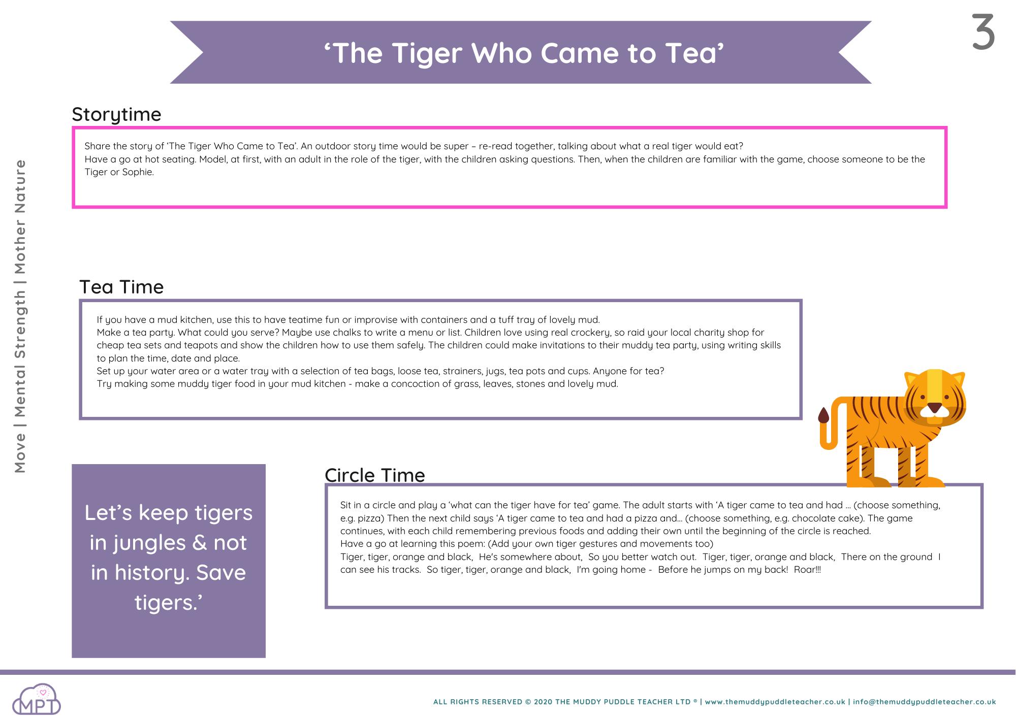 world tiger day eyfs