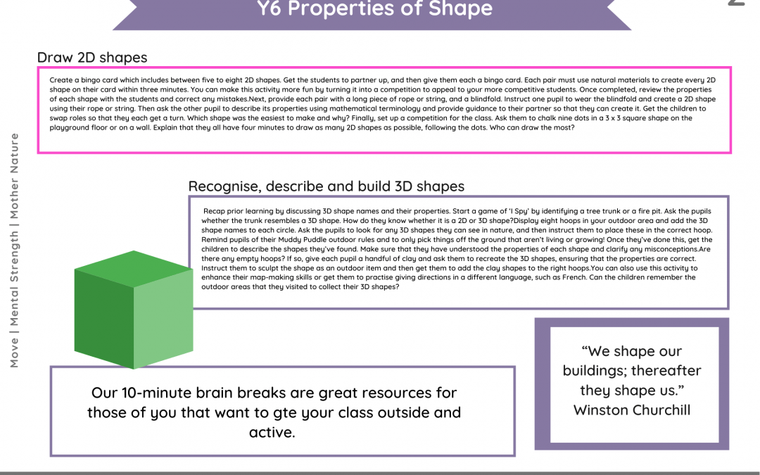Y6 Properties of Shape (Outdoors)