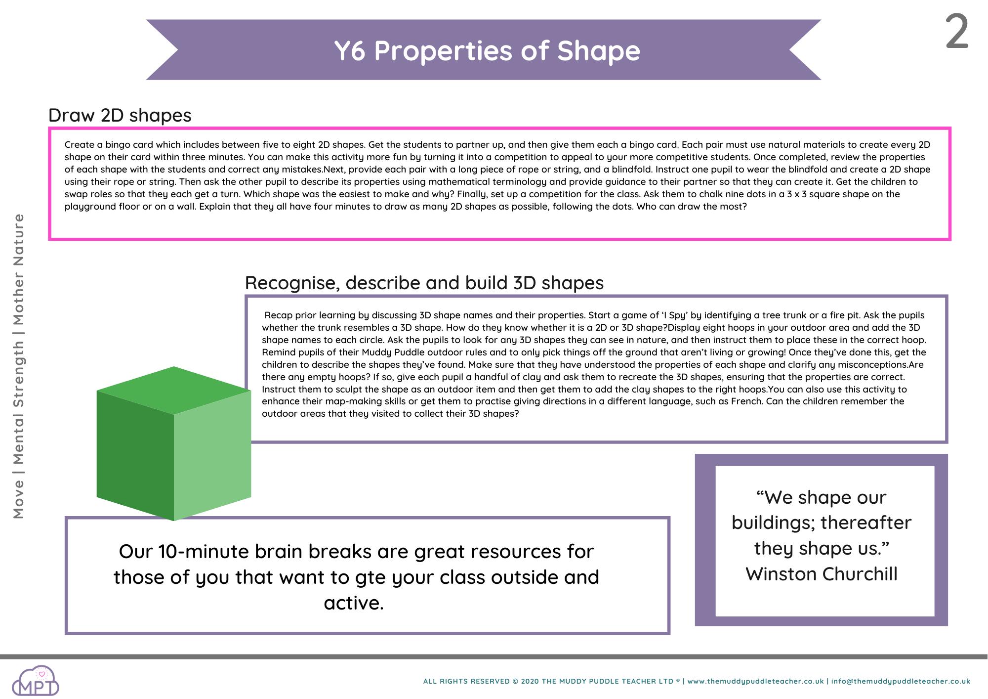year 6 properties of shape
