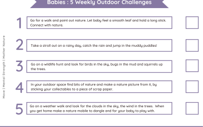 Daily outdoor challenges Babies – Nature Theme