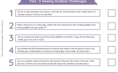 Daily outdoor challenges Tots – Nature Theme
