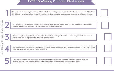 Daily Outdoor Challenges EYFS | Nature Theme