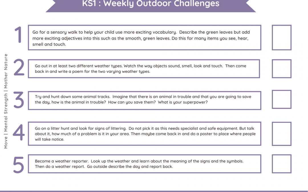 Daily Outdoor Challenges KS1 – Nature Theme