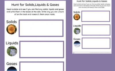 *FREE*Hunt for Solids, Liquids & Gases