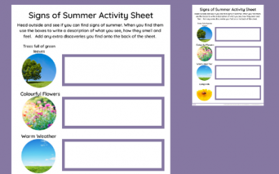 Signs of Summer Explorer Sheet
