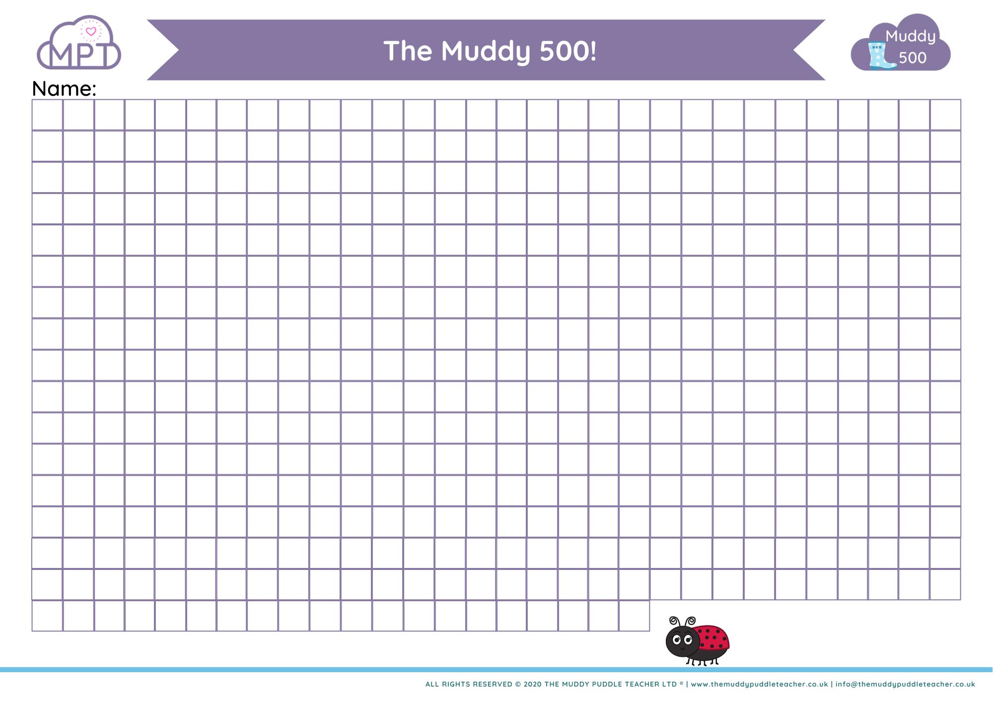 muddy 500 grid
