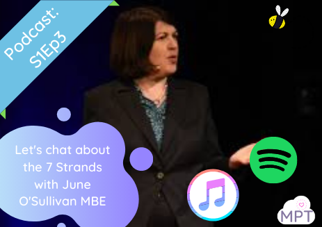S1E3: Let's chat about the 7 Strands with June O'Sullivan MBE