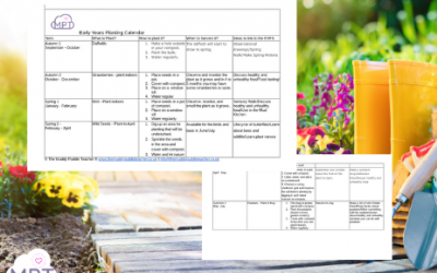 Early Years Planting Calendar