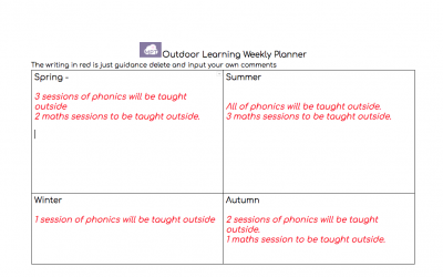 Outdoor Learning Weekly Planner