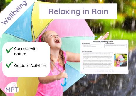 relaxing in the rain