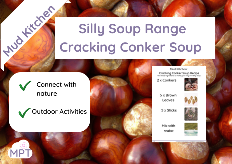 mud kitchen cracking conkers