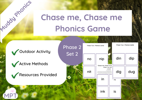 Chase me Chase me Outdoor Phonics Game (Ph2 Set2)