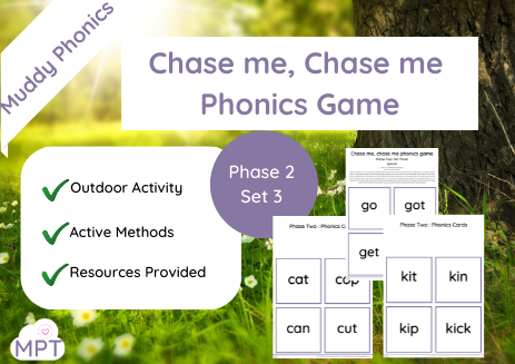 Chase me Chase me Outdoor Phonics Game (Ph2 Set3)