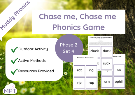 Chase me Chase me Outdoor Phonics Game (Ph2 Set4)