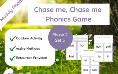 Chase me Chase me Outdoor Phonics Game (Ph2 Set5)