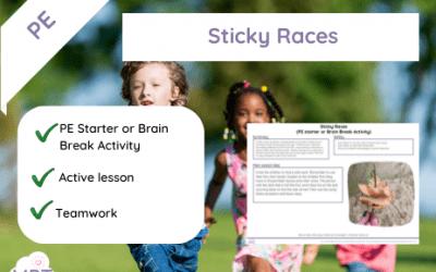 Sticky Races (PE Starter or Brain Break)
