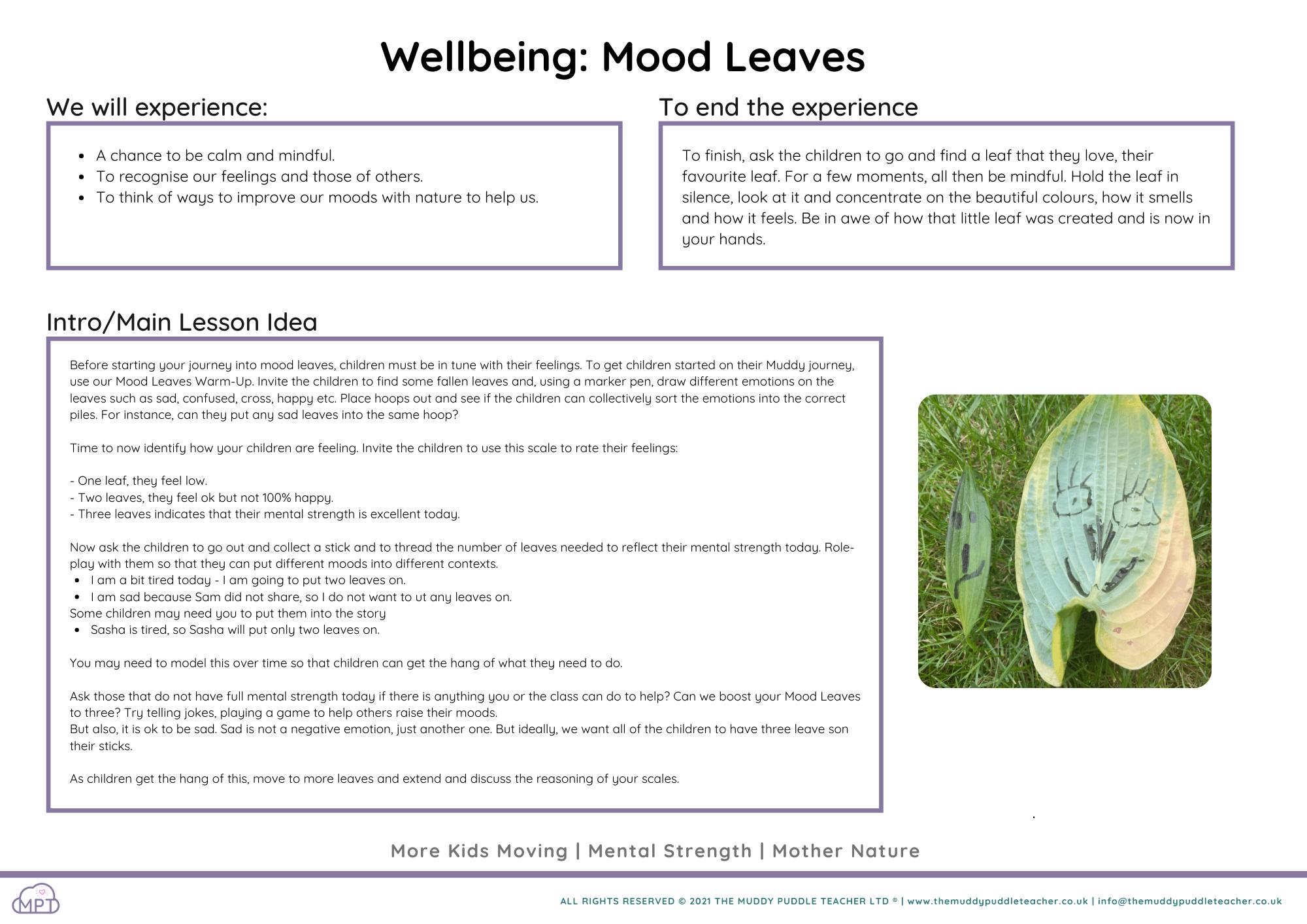 Wellbeing: Mood Leaves