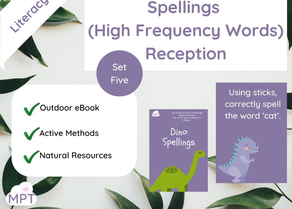 Spellings (High Frequency Words) – Set Five